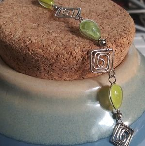 Peruvian Light Green Stone Bracelet